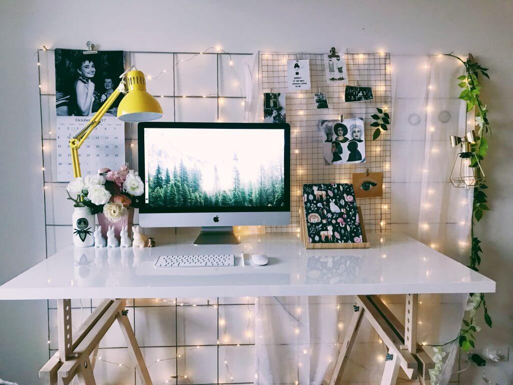 un coin bureau créatif