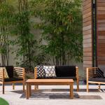 Salon de jardin Bois Beliani