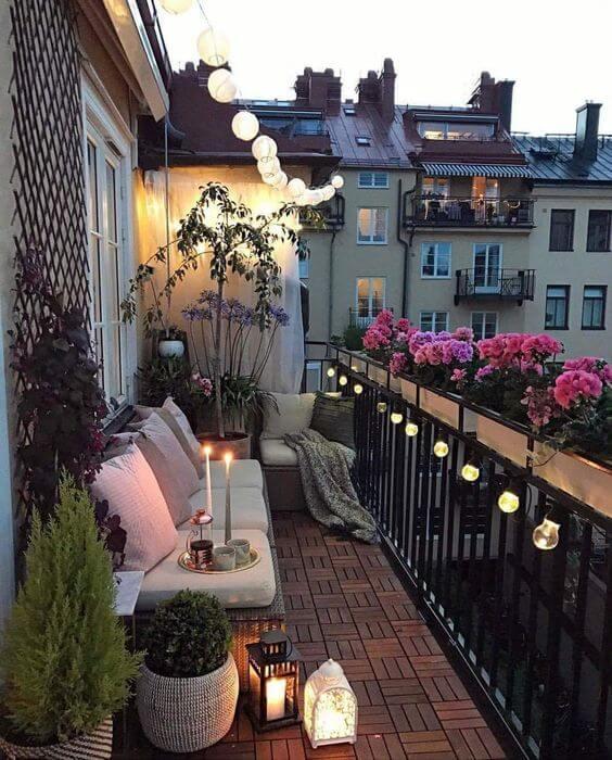 terrasse illuminée