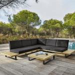 Salon de jardin aluminium et acacia massif Maisons du monde
